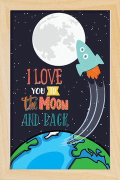 Quadro I love you to the moon #3 - Arteira Design