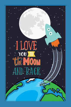 Quadro I love you to the moon #3