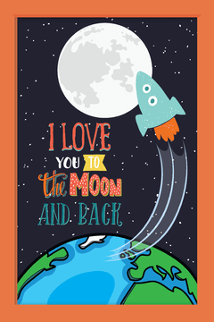 Quadro I love you to the moon #3 na internet