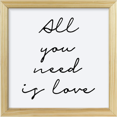 Quadro All you need is love #1 - Arteira Design