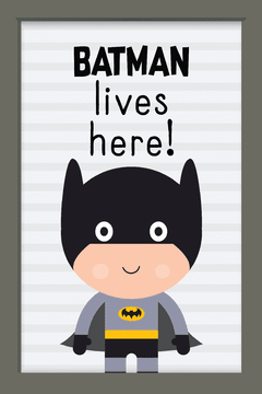 Quadro Batman Cute na internet