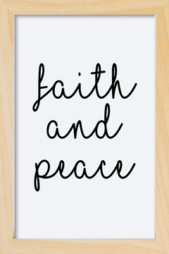 Imagem do Quadro Faith and peace