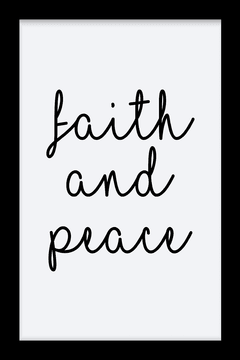 Quadro Faith and peace