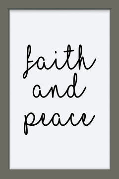 Quadro Faith and peace - Arteira Design