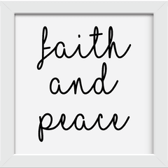 Quadro Faith and peace na internet
