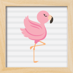 Quadro Flamingo Baby na internet