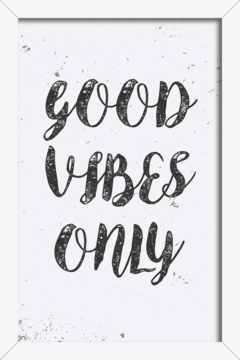 Quadro Good Vibes Only - comprar online