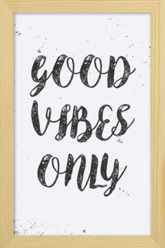 Quadro Good Vibes Only - loja online