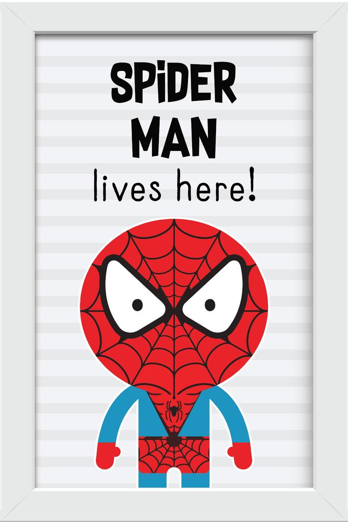 Quadro Homem Aranha Cute Comprar Em Arteira Design