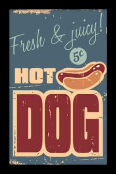 Quadro Hot Dog #1 - Arteira Design