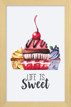 Quadro Life is Sweet - comprar online