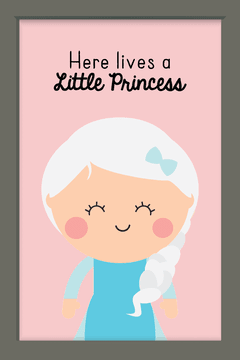 Quadro Princesa Elsa Cute na internet