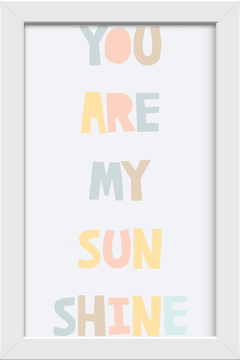 Quadro You are my Sunshine na internet
