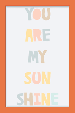 Quadro You are my Sunshine - comprar online