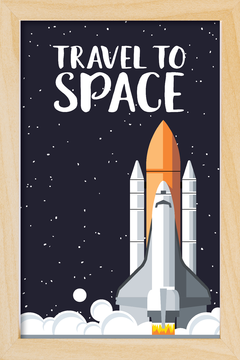 Quadro Travel to Space - Arteira Design