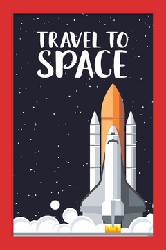 Quadro Travel to Space - comprar online