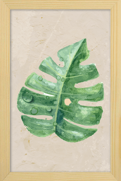 Quadro Watercolor Leaf - Arteira Design