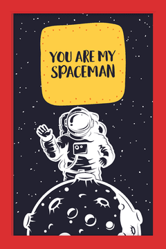 Quadro You are my Spaceman #1 - comprar online