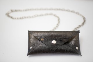 Pocket Chain croco cristal