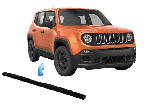 Estribo Tubular Oblongo Preto Nova Jeep Renegade