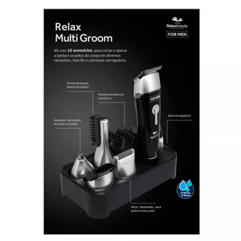 Barbeador Elétrico Relax Multi Groom RelaxMedic - RB-AM0249A na internet