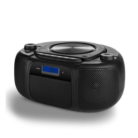 Caixa de Som Boombox Big 20w RMS BT/CD/FM/USB/SD Preta Multi