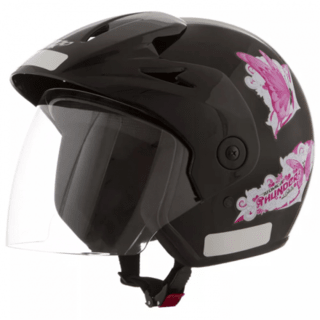 Capacete Atomic Thunder For Girls Preto | 60 Pro Tork - CAP-