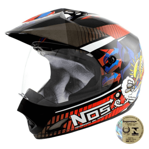 Capacete Para Motocross Top Helmet Vision 56 Th-1 Nos Pro To