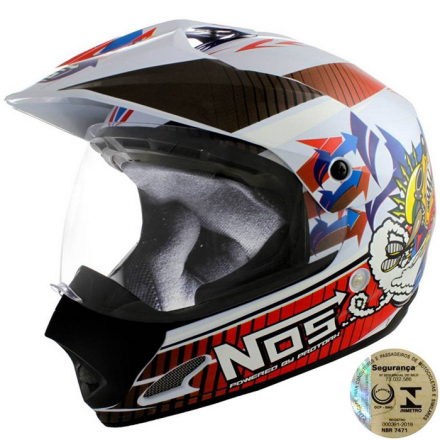 Capacete Para Motocross Top Helmet Vision 60 Th-1 Nos Pro To