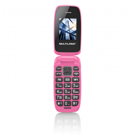 Celular Flip Up Câmera MP3 Dual Chip Rosa Multilaser - P9023