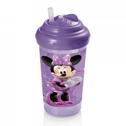 Copo Com Canudo De Silicone 300ml Minnie - Multikids -  BB08