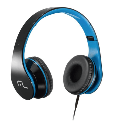 Multilaser Headphone com Microfone para Celular Azul PH113
