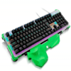 Teclado Gamer Mecânico Warrior RGB LED US TC216