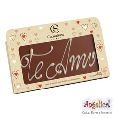 PLACA DE CHOCOLATE EU TE AMO