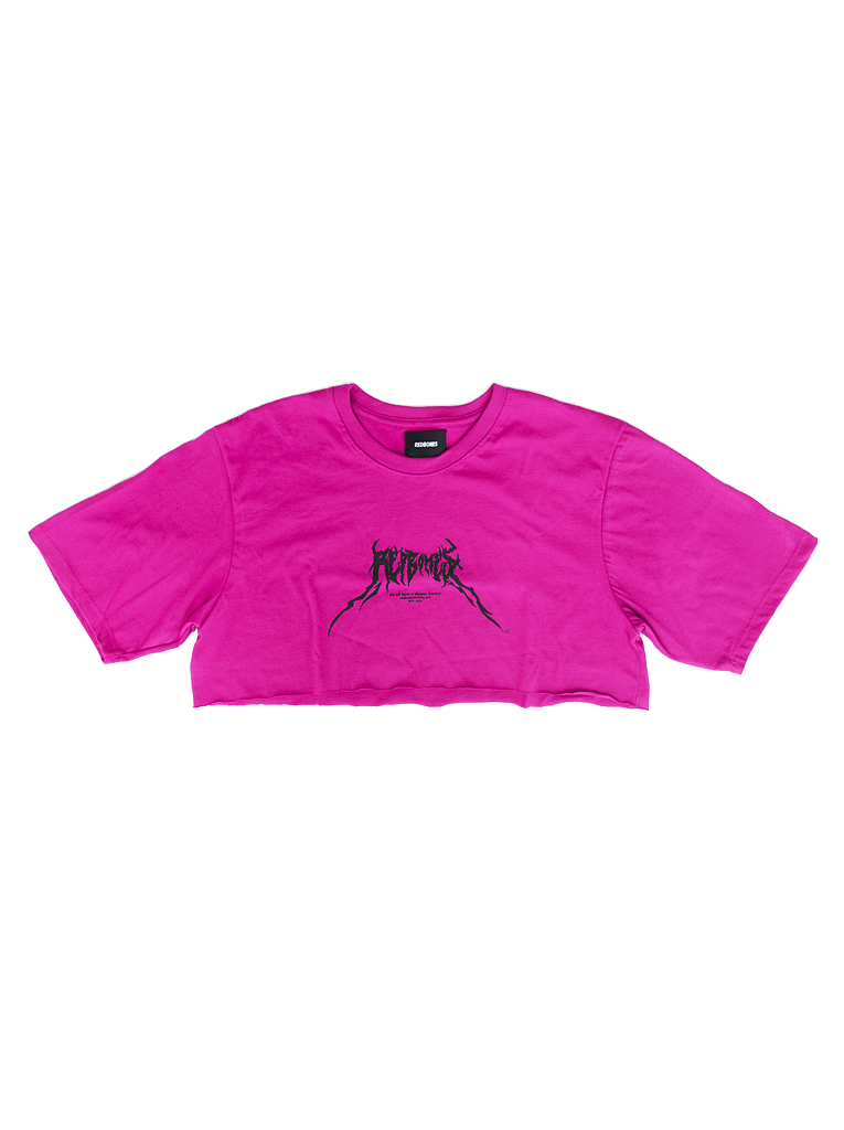 DEATH METAL LOGO CROPPED TSHIRT