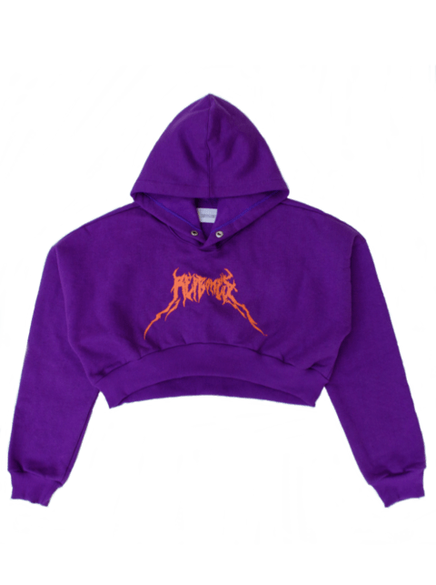 DISTORSIONED LOGO CROPPED HOODIE
