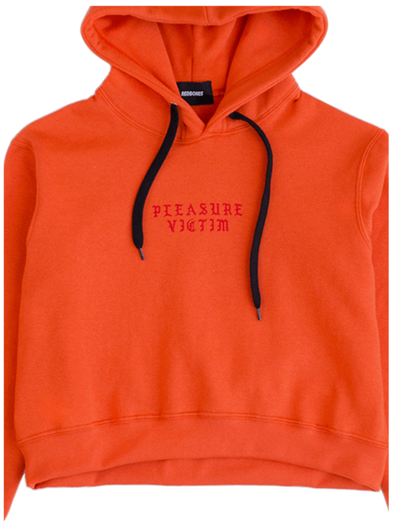 PLEASURE VICTIM CROPPED HOODIE - comprar online