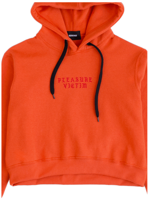 PLEASURE VICTIM CROPPED HOODIE
