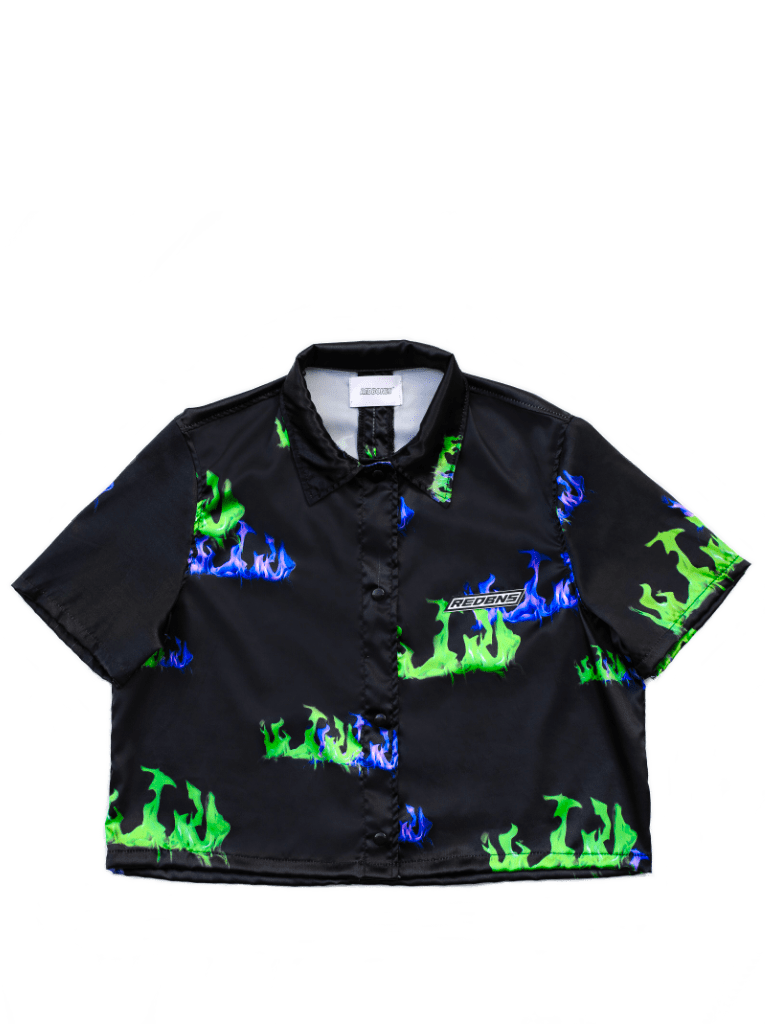 PSYCHO CROPPED SHIRT