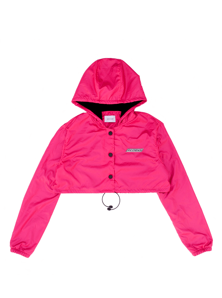 FUCSIA RAINING CROPPED JACKET en internet