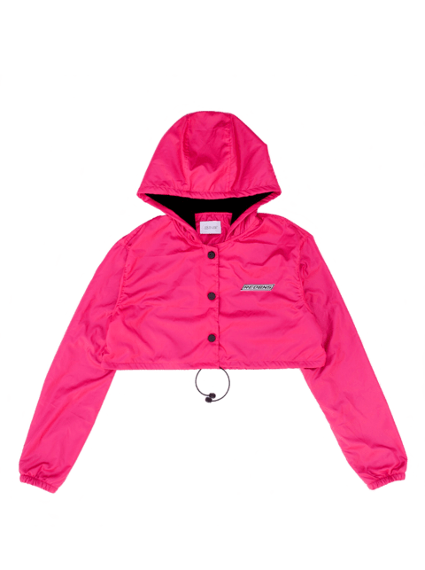 FUCSIA RAINING CROPPED JACKET