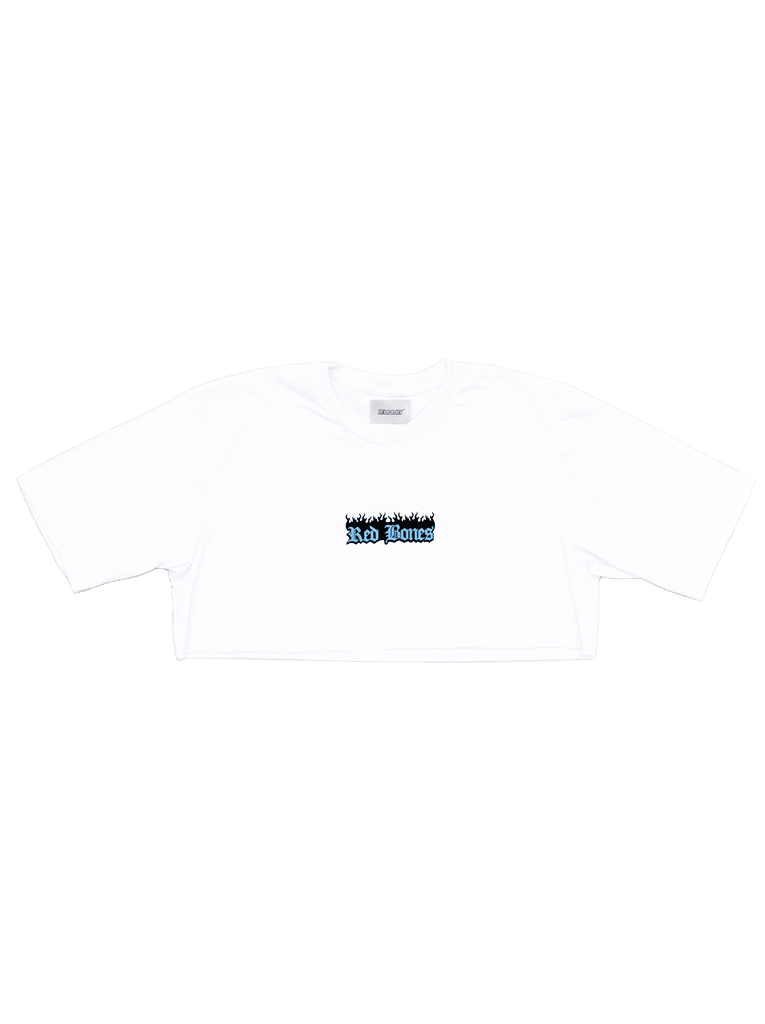 BURNING LOGO CROPPED TSHIRT