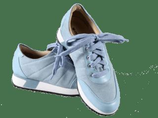 957 Tênis em Couro Nobuck Baby Blue