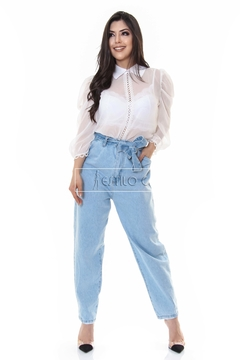 Calça jeans mom clochard - REF 202064 na internet
