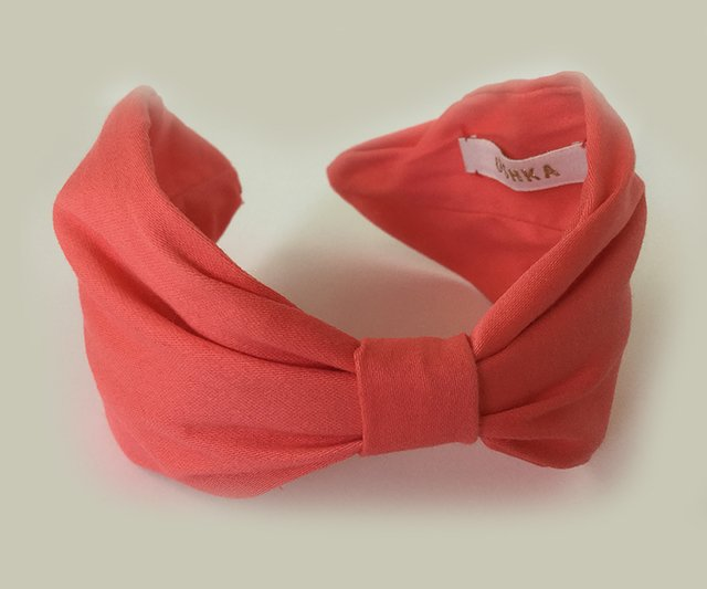 Vincha coral cotton