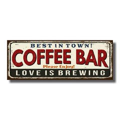 PLACA COFFEE BAR 40x15 cm - comprar online