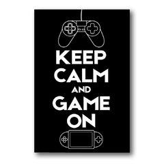 Placa Keep Calm Game