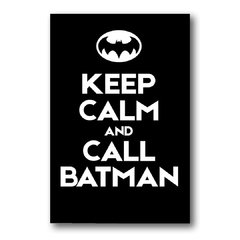 Placa Keep Calm Batman