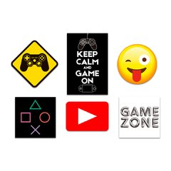 Kit 6 Placas Game - comprar online
