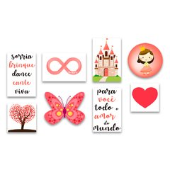 Kit 8 Placas Princesa - comprar online